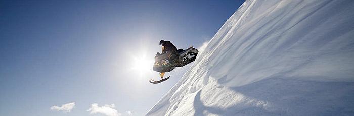 Alpes de Lynge viaje a laponia papa noel motonieve