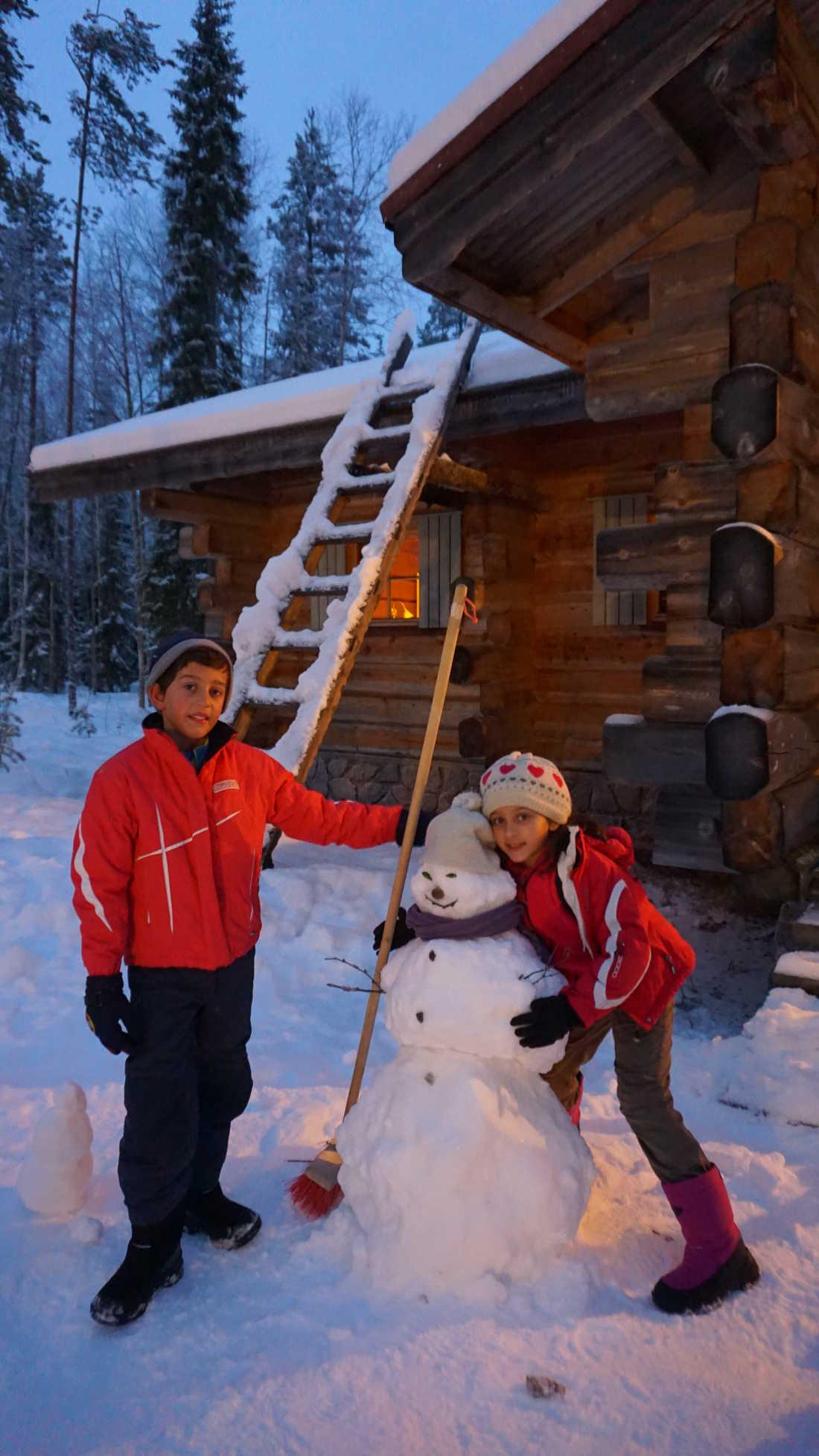 Familia Lorer Arctic Circle Rovaniemi Navidad 2015 01