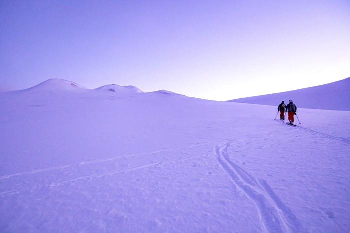 caminando nieve Svalbar