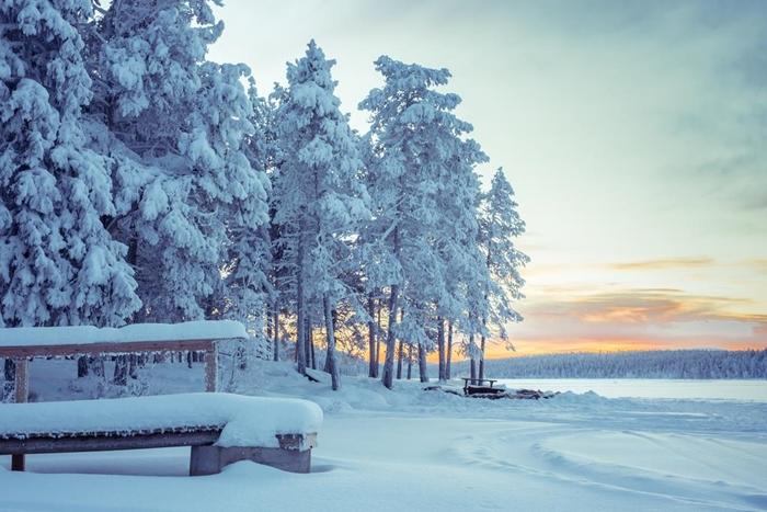 paisaje nevado lapland
