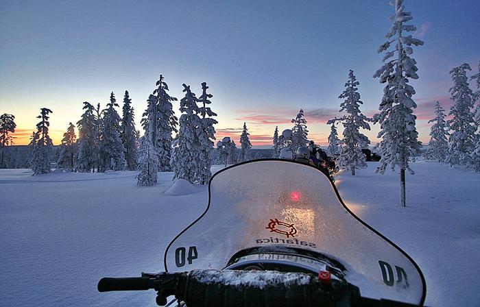 papa noel laponia arctic circle diciembre